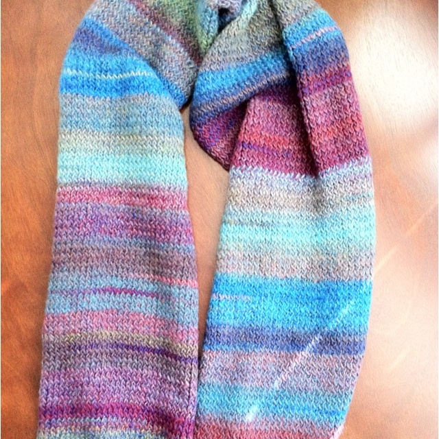 Round Loom Knitting Scarf Patterns : Knitted scarf on the Martha Stewart round loom. Amazing yarn by Lion Brand - ...