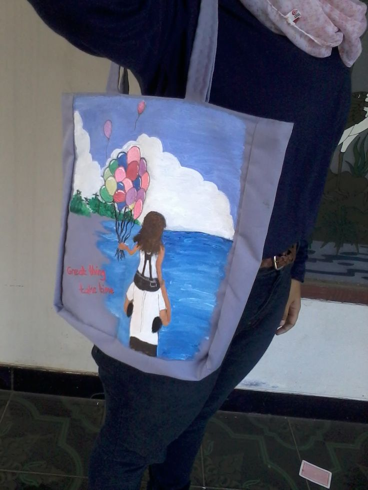 My products are Painting Tote-bag. I make it by custom and handmade. I paint the bag by myself. you can request painting by yourself, such as caricature, chibi, cartoon, view, and animals.