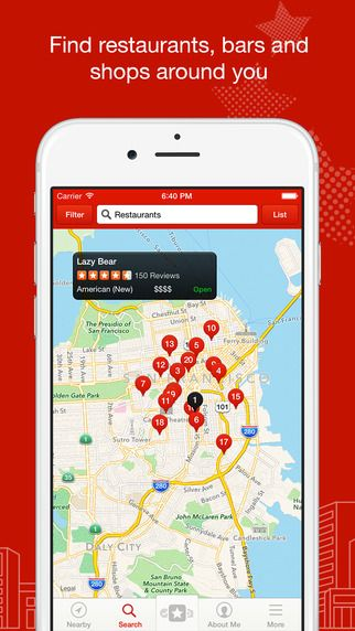 Top-ranked Yelp for your iPhone or iPad has over 50 million reviews on businesses worldwide — all in the palm of your hand. Whether you are looking for a pizzeria that is open now or a coffee shop nearby, Yelp is your local guide to finding just the place to eat, shop, drink, relax, and play.