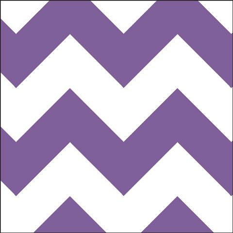 Violet Chevron Shelf Paper contact paper. This bold chevron design features violet purple stripes on a white background.