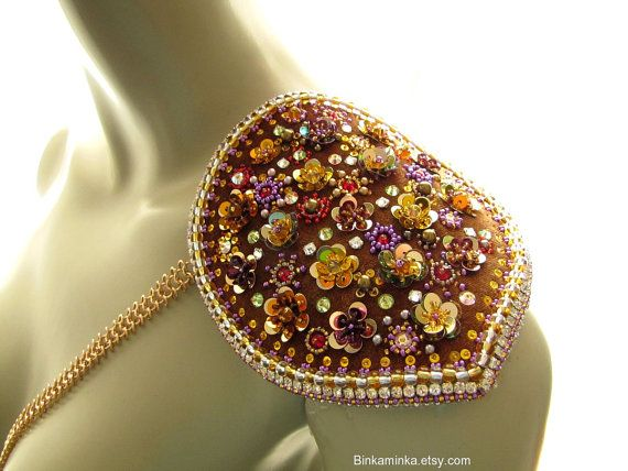 Sequin Flower Epaulet Ready to ship