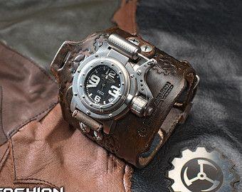 Techno-industrial men's wrist watch 'Maximus' by Atomfashion