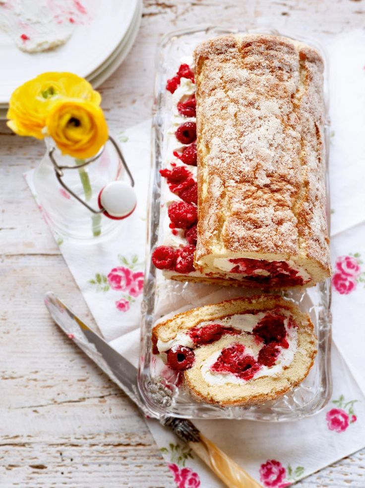 A delightful swiss roll recipe, this sweet treat can be frozen so you can make it in advance to use for a later occasion.