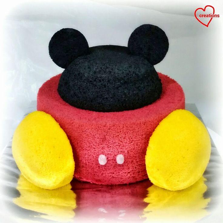 Loving Creations for You: Mickey Mouse Vanilla Chiffon Cake