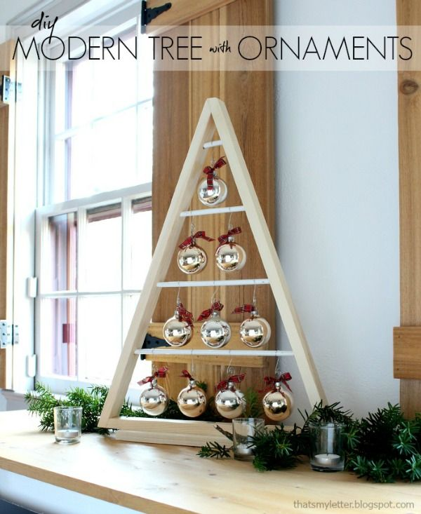 DIY Modern Tree with Ornaments | That's My Letter | Bloglovin'