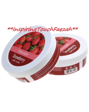 Wardah Spa Strawberry Soft Scrub  A soft scrub for skin with Strawberry extract. Contains natural moisturizer: coconut oil and olive oil Makes skin clean, moist, and fresh Not making the skin rough and dry - See more at: http://www.wardahskincare.com/product_info.php?cPath=21_id=204#sthash.TcbtOSVg.dpuf