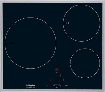 KM 6113 - Induction cooktop with onset controls With 3 cooking zones for maximum convenience at an attractive entry level price.--NO_COLOR