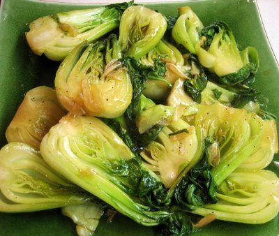 Fried baby bok choy #wildrose (without soy or yeast-free soy)