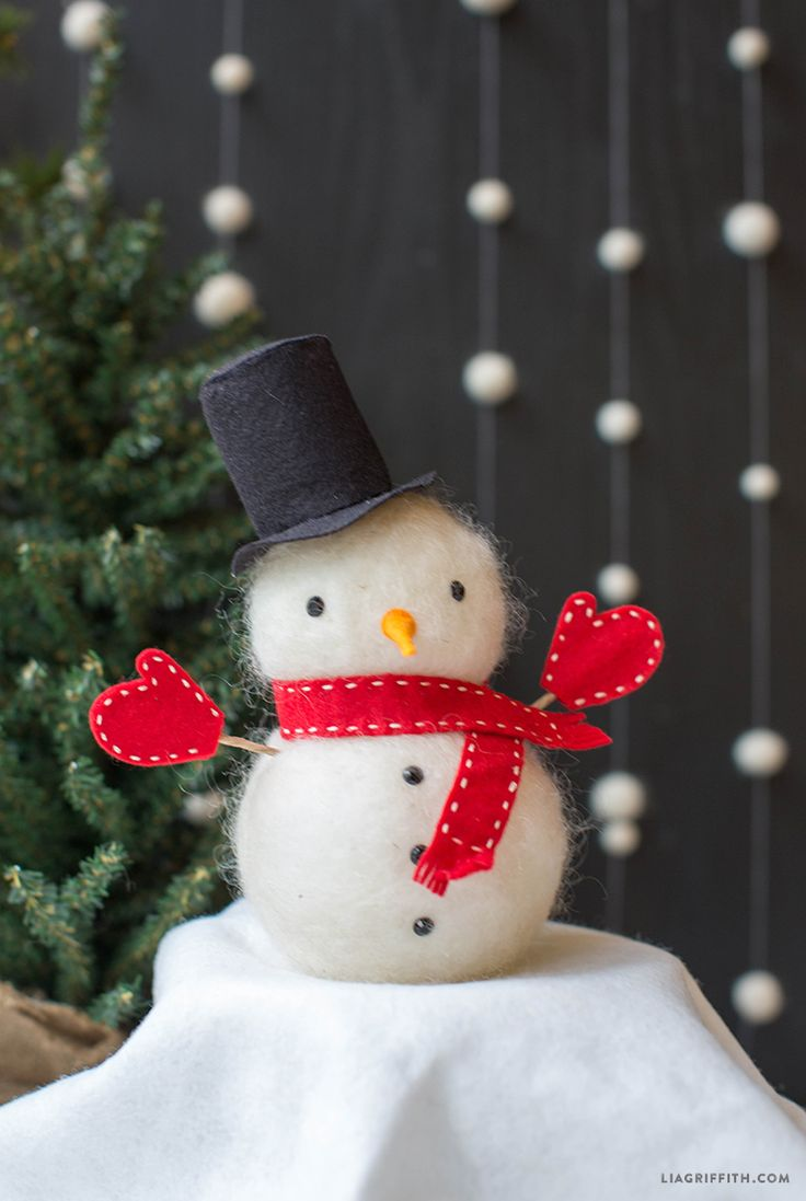 743 tags christmas decorations festival holiday christmas tree views - Felted Wool Foam Snowman