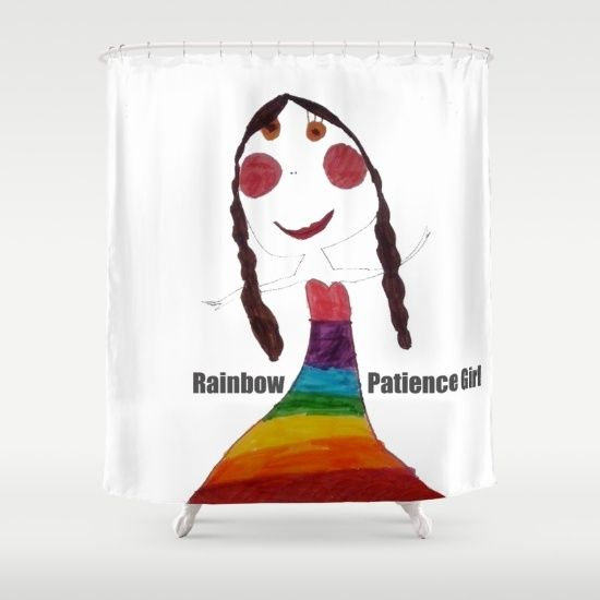 #society6 #society6promo #society6home #shareyoursociety6 #summertowel #yoga 20% Off + Free Shipping - Today Only!  https://society6.com/product/rainbow-patience-girl_shower-curtain?curator=azima