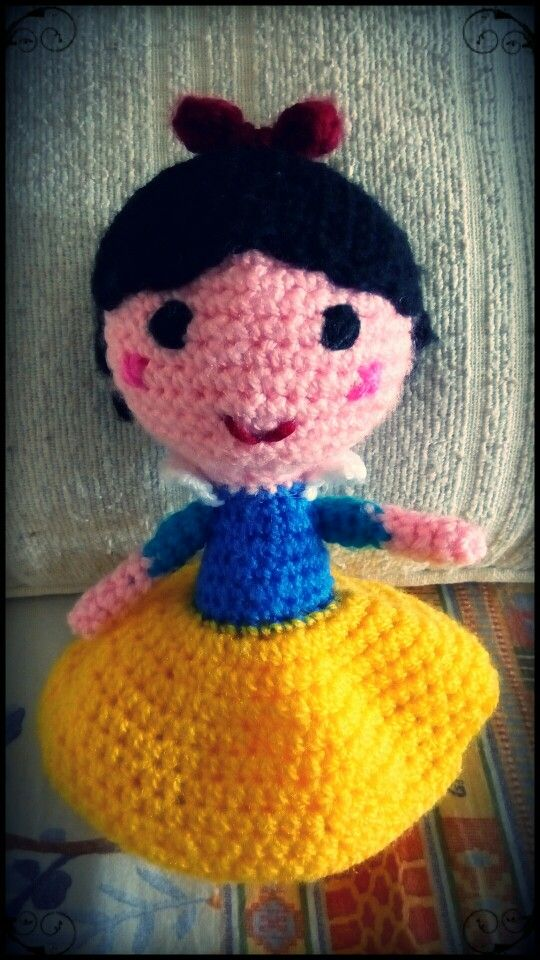 #Blancanieves #SnowWhite #crochet #ganchillo