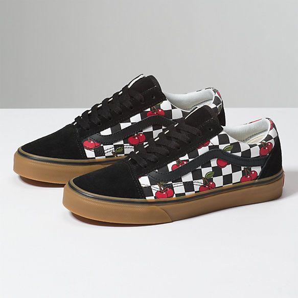 Cherry Checker Old Skool | Shop | Vans, Womens shoes wedges