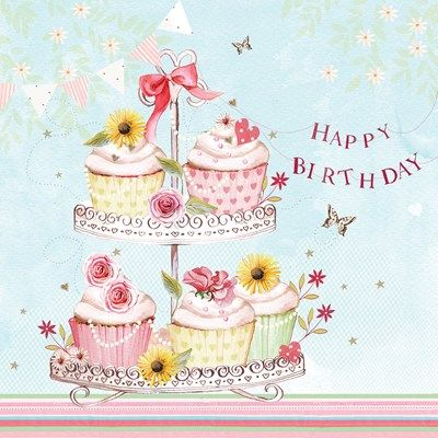 Happy Birthday (W057) Cupcake Greeting Card by Katy Hudson http://www.thewhistlefish.com/product/w057-happy-birthday-greeting-card-by-katy-hudson