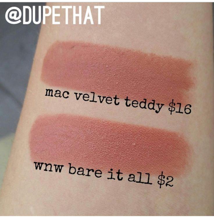 Wnw bare it all dupe for Mac velvet teddy