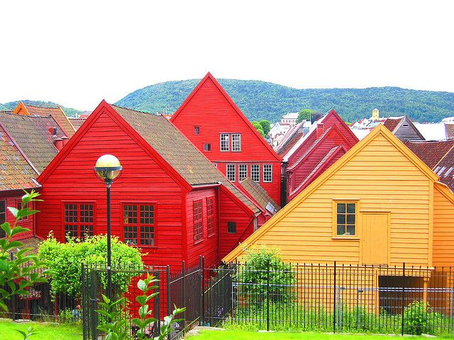 Colorful Norwegian Houses