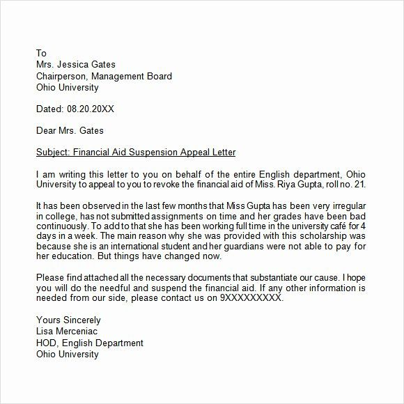 Academic Appeal Letter Sample Awesome Appeal Letter 12 Free Samples Examples Format Business Letter Template Formal Business Letter Letter Templates