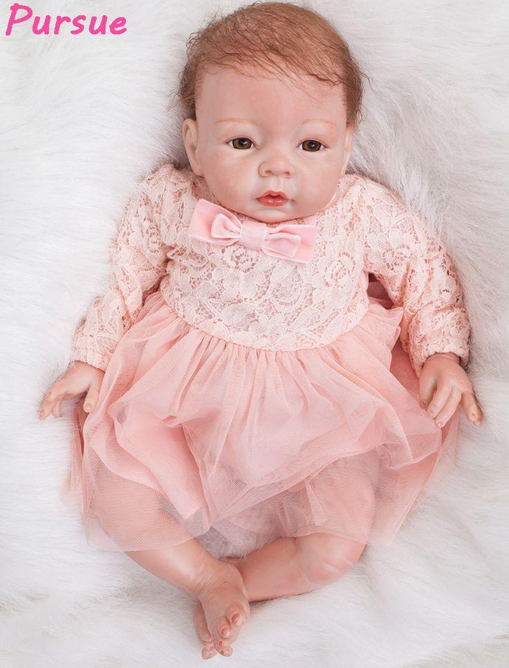 Pursue 53 cm So Lovely Adora Newborn Lifelike Baby Dolls Silicone Realistic Reborn Baby Doll for Adoption boneca reborn menina  #Affiliate