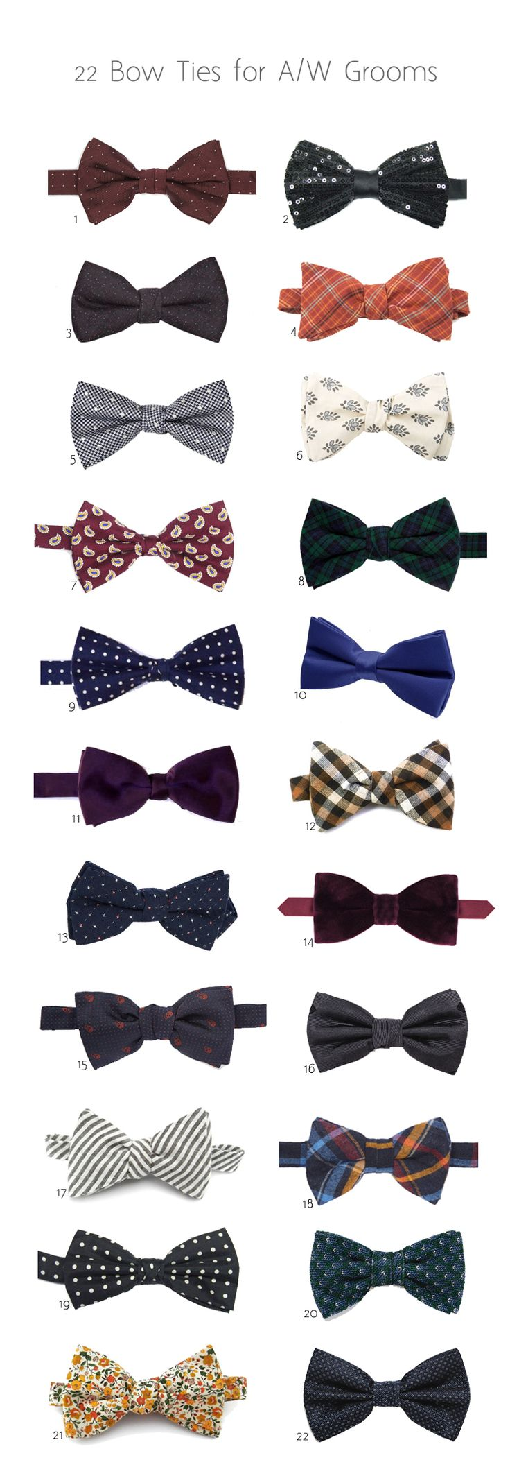 22 of the Best Bow Ties for Autumn/Winter Grooms | WeddingsOnline
