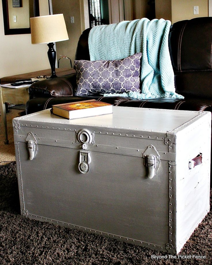 Painting An Old Trunk, SAVING Furniture With Paint!! Http://bec4