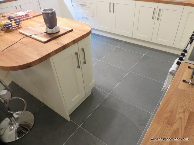 Brazilian Grey Green slate floor tiles in 600x600x10mm