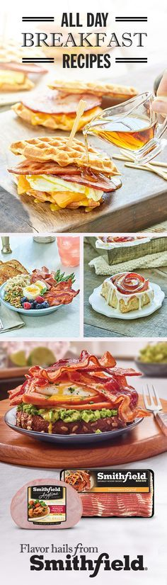 Breakfast has no boundaries. With Smithfield Bacon and Ham, you can make meal time magic any time of day