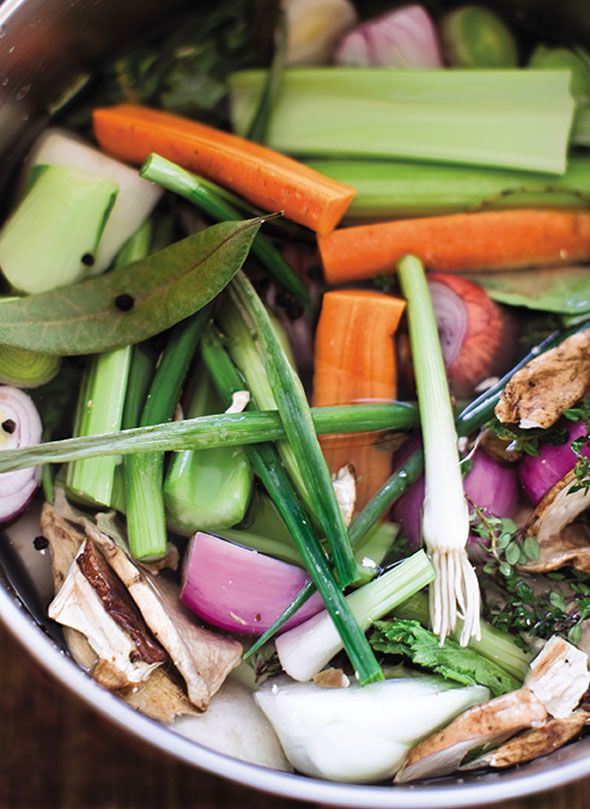 Vegetable Broth Recipe (Hey, you weren't thinking of throwing away all those veggie scraps this week, were you?)