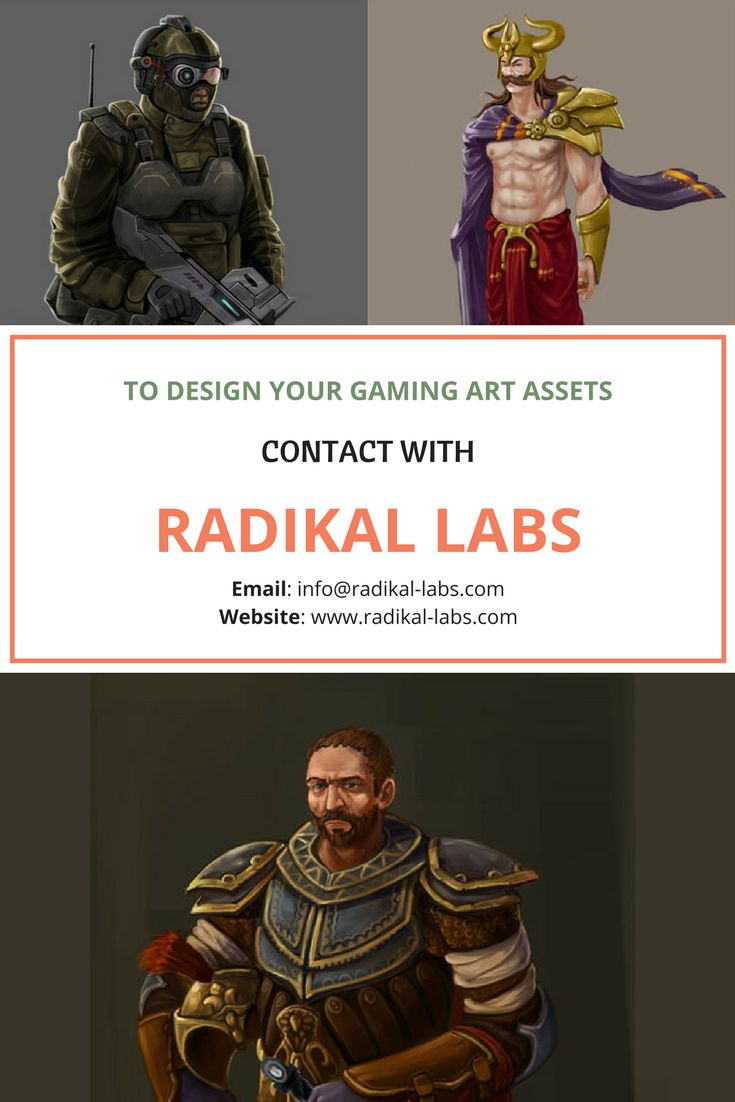 We are a game design & development Company offering world class 2D-3D art to be outsourced for publishers and developers worldwide. Get in touch with us at : http://www.radikal-labs.com/contact
