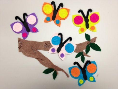 Flannel Friday: 5 Little Caterpillars/5 Little Butterflies
