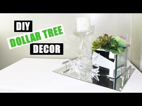 DOLLAR TREE DIY Room Decor Dollar Store DIY Mirrored Faux Succulent Garden DIY Mirror Decor – YouTube