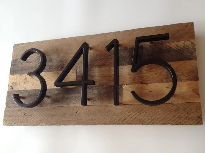 Custom Address Plaque made from Reclaimed Wood - rustic, personalized, house numbers, address sign, cabin, cottage, housewarming gift modern by MadeWithBeerInHand on Etsy https://www.etsy.com/listing/228852952/custom-address-plaque-made-from