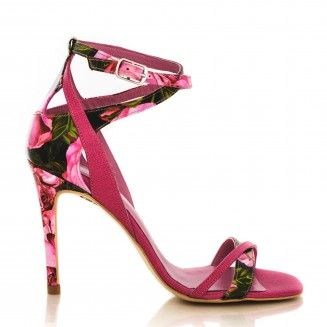 sandale dama din piele naturala 1505 bujori cu fuchsia