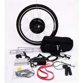 """Easily convert your pedal bike into a motorized bike Max speed of 28 mph Comes with 26"""" rear wheel Continue reading → #ElectricBike #BikeRepair"""