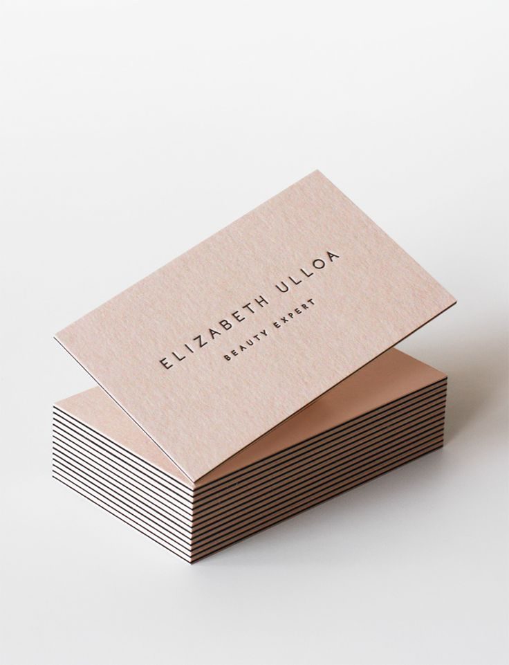 Blush letterpress business card