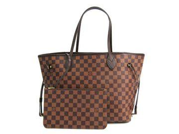 Louis Vuitton    Louis Vuitton Damier Rojo Neverfull Mm la bolsa de asas B2218