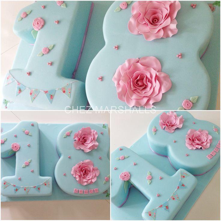 A very feminine 18th birthday cake. girly to the max!