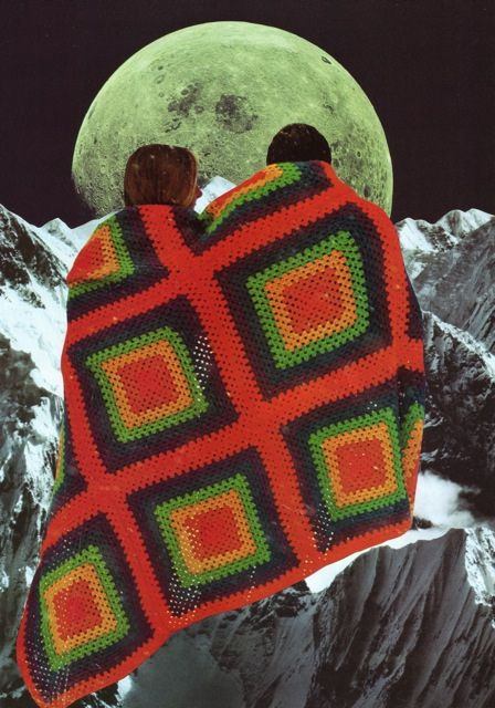 """""""Alone Together""""Beth Hoeckel, Hoeckel Collage, Collage Art, Art Collage, Collage Etc, Artists Beth, Afghans Hoeckel, Bethhoeckel, The Moon"""