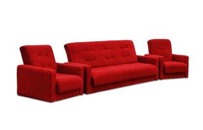 купить комплект диван + 2 кресла Милан красный - Мебель с вами