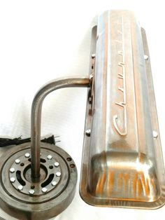 Patina Chevrolet Script Valve Cover Lamp ; Automotive Décor ready to ship