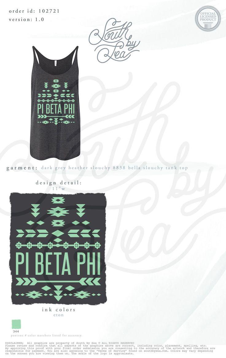 T shirt design evansville indiana - Pi Beta Phi Pi Phi Tribal Tee Shirt Design South By Sea