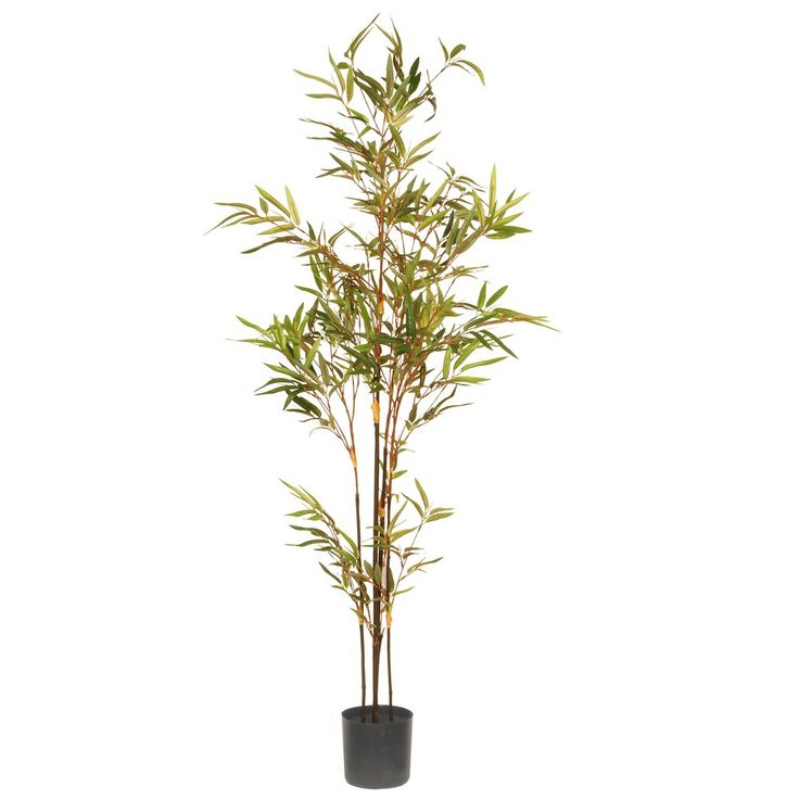 Artificial Potted Japanese Bamboo Tree Green 4 Ft. - National Tree Company