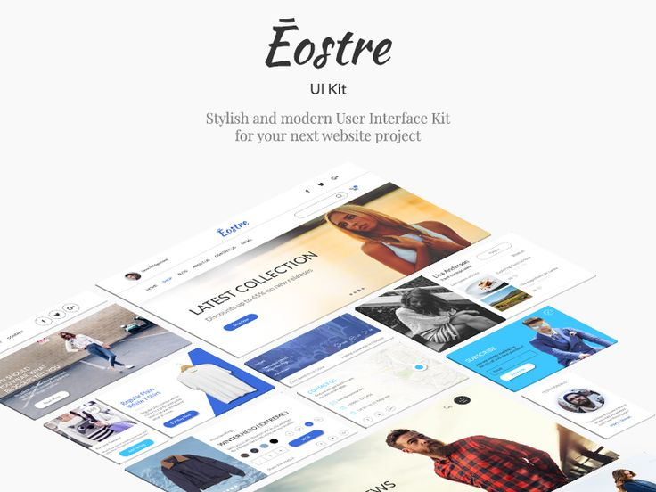 Ēostre Ui Kit #ui #website #design #modern #fresh