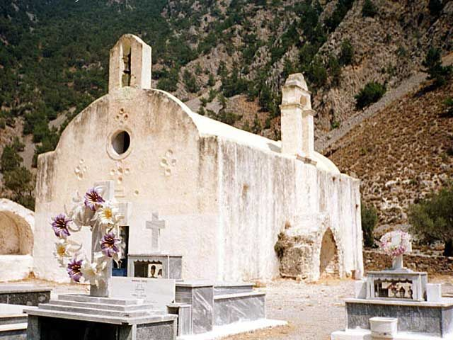 ... Church in Samaria Gorge - This is a church in the Gorge of Samalia on the