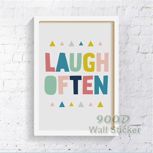Laugh often Quote Canvas Painting Poster, Wall Pictures For Living Room Home Decoration Print On Canvas FA030