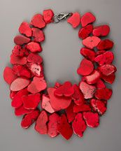 red, #red, #red  necklace