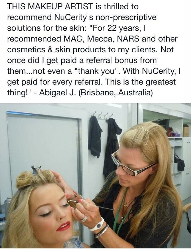 Make Up artists around the world love these products!! #Nucerity http://ca.buynucerity.com/cottenbreit