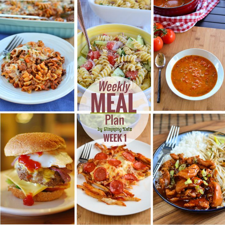 Slimming Eats Meal Plan - Week 1 - Slimming World