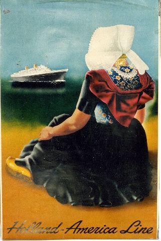 Dullaart - Holland-America Line - 1949 vintage poster