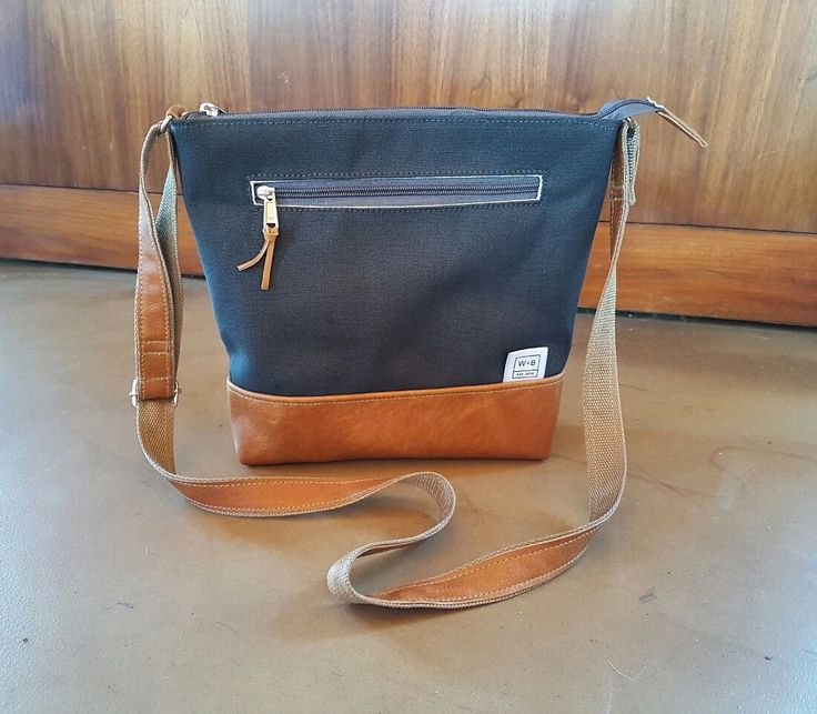 Made To Order Canvas and Leather Everyday Bag - W & B