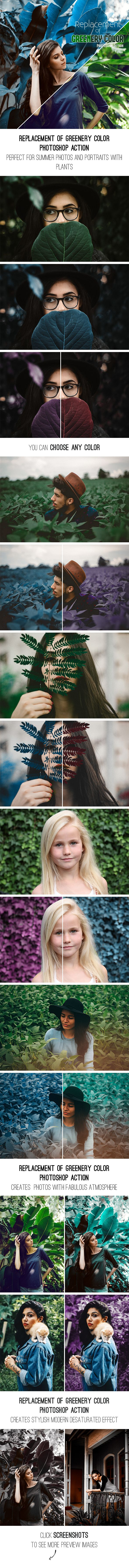Replacement Of Greenery Color Photoshop Action — Photoshop ATN #action #fashion • Available here → https://graphicriver.net/item/replacement-of-greenery-color-photoshop-action/19707628?ref=pxcr