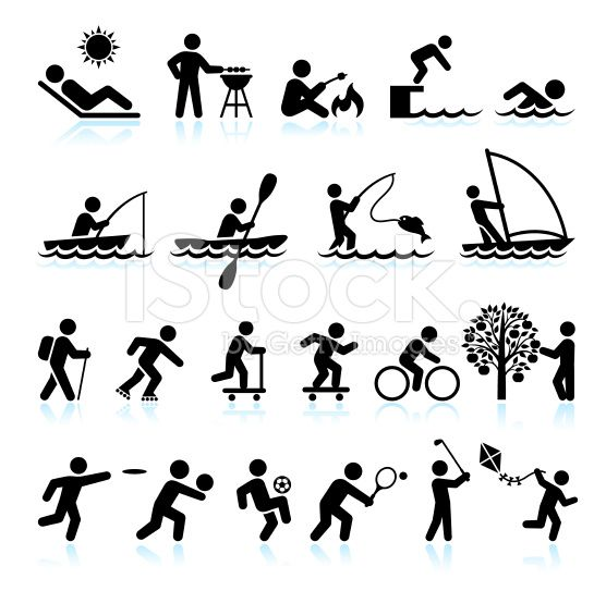 Summer Fun and Outdoor Activities Stick Figure interface
